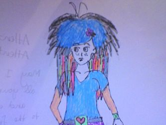 Randomly Colored Punk Girl by Stethoscope-face