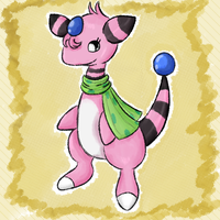 Future! Peaches as Ampharos