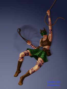 Celtic Batgirl by dragynsart