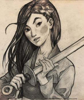 Mulan - One heart, One weapon by Shricka