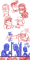Team Fortress 2 Doodles by RKPiratedrawer
