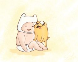 Baby Finn and Jake by Silent--Haze