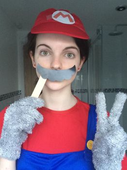 Mario cosplay 4 by TotallyDeviantLisa