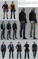 Leon RE6 Extra Costumes 3 by Sparrow-Leon