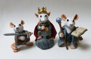 Arthurian Rat Mini Rat Sculptures by philosophyfox