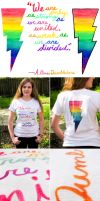 HP and Gay Pride T Shirt by myprettycabinet