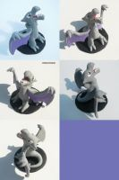 Aerodactyl Sculpture by ChibiSilverWings