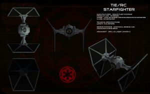 TIE/rc Reconnaissance Starfighter ortho by unusualsuspex