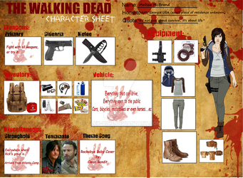 .:The Walking Dead Oc Sheet Melissa McBrand:. by Alex-Hime
