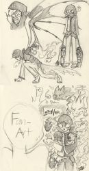 Icano and 2 childes (LN AU sketch) by farahin001