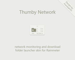 Thumby Network Rainmeter by murasaki55