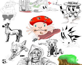 Sketchbook Compilation 2 by sythes-of-death