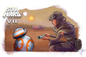 Rey's Droid (3) - Star Wars: The Force Awakens by shadwwithouttheo