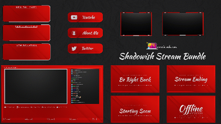 RED Animated and static stream pack by Kireaki