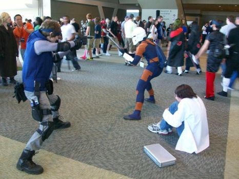 Otakon 09: Metal Gear Match by RJTH
