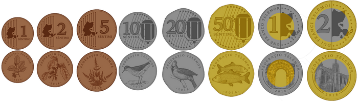 Telemor Franc Coins, 2018 Redesign by requindesang