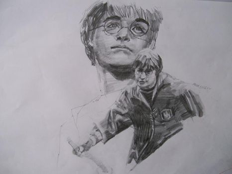 Harry potter sketching by Marcus86