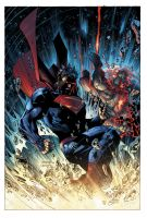 Superman Unchained #6 cover art by jimlee00