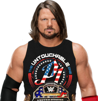 AJ STYLES UNITED STATES CHAMPION PNG 2017 by Antonixo02