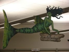 Library Mermaid - Green by Sidhe-Etain