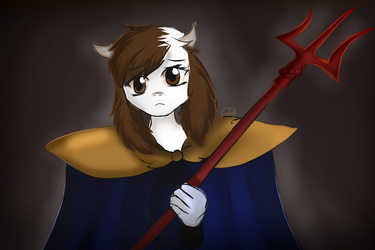 Isabel, cosplay de Asgore by Isabel2014