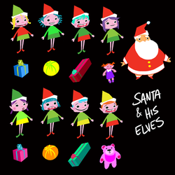 Santa and the elves  by Lelpel