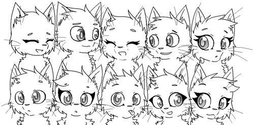 GROUP OF CATS. :Base/Template: by IZfan4life