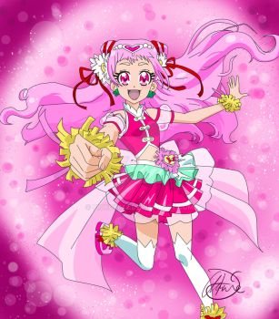 Cure Yell- Hugtto Precure by Pioko6642