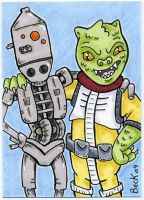 IG-88 and Bossk by beckadoodles