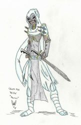 Blood and Bounty Concept Sketch: Ghost Fox Wiccer by Herokip98