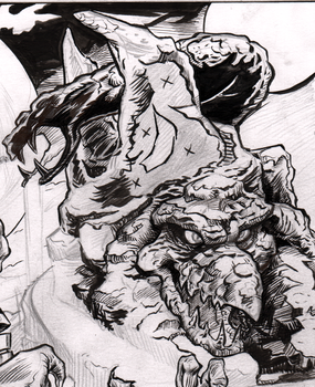 Snake Mountain partial inks by Renzo1991