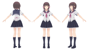 [MMD] Music Girl Nene - Nene Uniform by xxSnowCherryxx