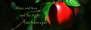 Adam and Eve and the Apple by Emengeecupcake