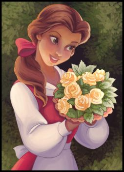 Belle - Coloring Page by madam-marla