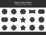 Badges Custom Shapes by xara24
