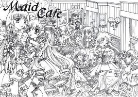 Maid Cafe colorplate by ChibiAndromeda03