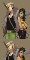 Jericho and Rorin Genderbend by DiePestArzt