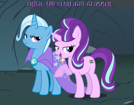 Trixie and Starlight Glimmer by Nukarulesthehouse1