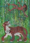 Mowgli and Shere Khan by acg723