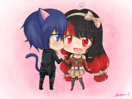 Ikuto and Annelisse (Commission) by mmidori31