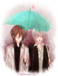 Kaname and Zero in the rain by Sagakure
