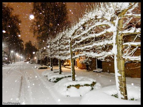 DECEMBER, SNOW IN OUR STREET ! by IME54-ART-ILONA