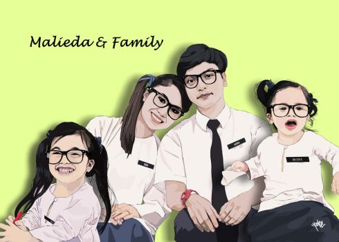 Malieda and Family by locase