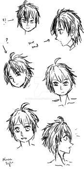 Practise: Yuu's Hair by Musa-Eyre