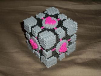 Weighted Companion Cube perler by super-baka