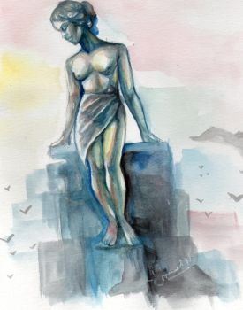 Greek Figure in Watercolor by furgy12
