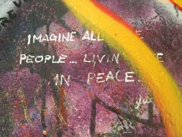 John Lennon Wall- Imagine by helpicard