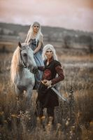 Daenerys and Viserys by fenixfatalist