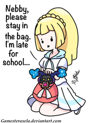 Nebby and Lillie Go To School Collab by GAmesterAxela
