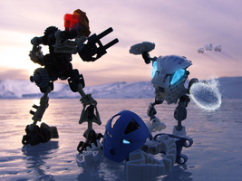 Confrontation on the Ice by Keyblade87